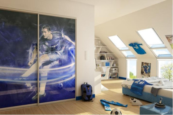 printed sliding wardrobe doors
